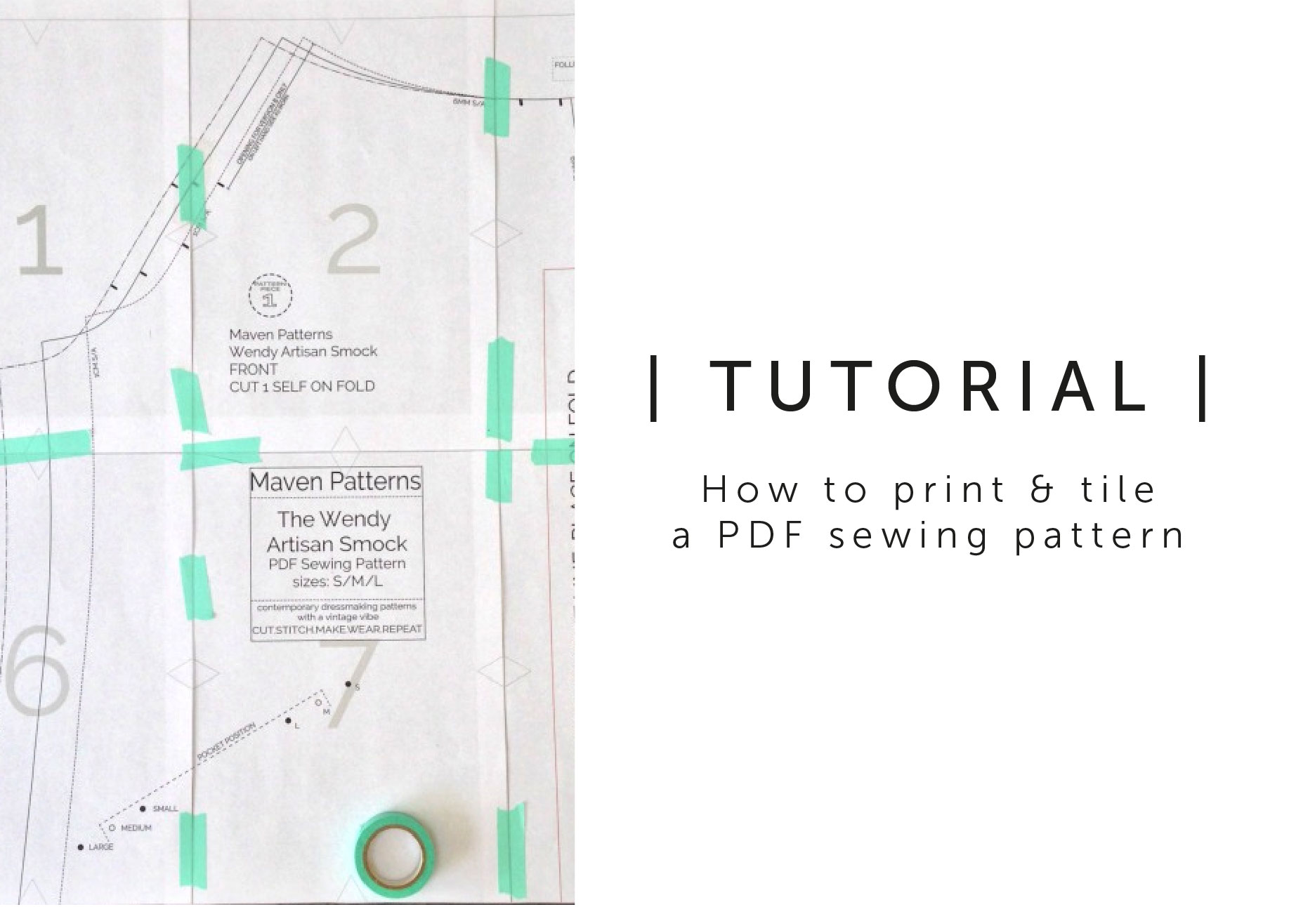 How to Print and Tile a PDF Sewing Pattern - Maven Patterns